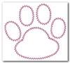 No 833 Applique Paw Prints Machine Embroidery Designs