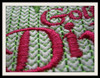 Close-up stitch out example