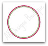 Double Satin Stitch Circle Frame - included in set