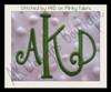 No 1344 Swirly 3 Letter Monogram Machine Embroidery Designs 3 inch high