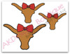 All 3 Girly Longhorns included in the set