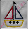 Example of the Satin Stitch Sailboat without fabric.