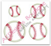 All 4 Baseball or Softball designs without Flames