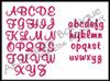 No 1326 Girly Font Machine Embroidery Designs .5 inch high
