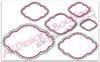 No 448 Fancy Applique Cloud Font Frame Machine Embroidery Designs