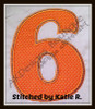 No 1425 Funky Applique STACKED Font and Numbers Machine Embroidery Designs 5 inch high