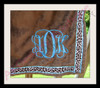 """ADK stitched on a minky wrap using our #1364 4"""" size."""