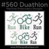 No 560 Duathlon Machine Embroidery Designs