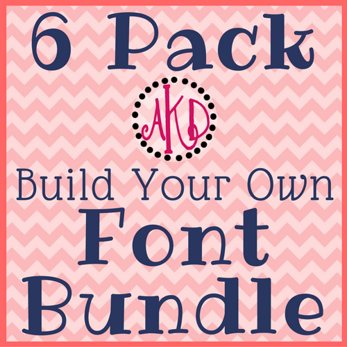 "6 Pack ""Build Your Own"" Font or Monogram Bundle Deal - Machine Embroidery Designs"