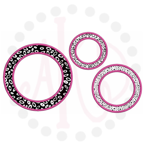 No 397 Circle Applique Font Frames Machine Embroidery Designs