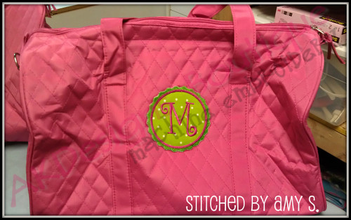 No 840 RicRac Applique Circle Font Frames Embroidery Designs