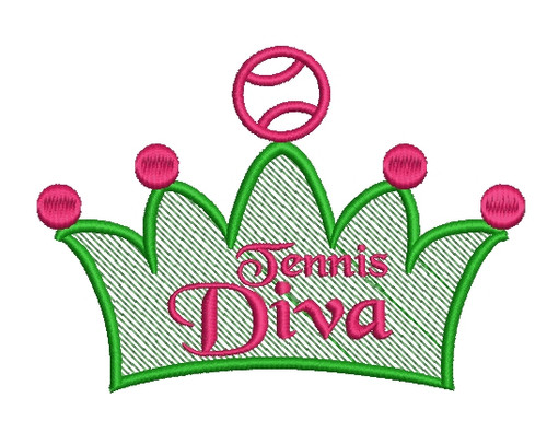 No 106 Tennis Diva Machine Embroidery Designs