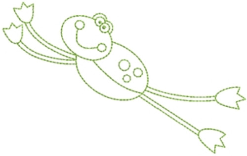 No 1100 Simple Frog Machine Embroidery Designs