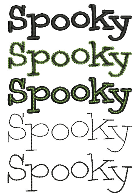 No 216 Spooky Machine Embroidery Designs
