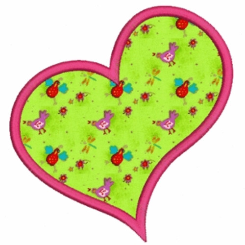 No 260 Applique Hearts Machine Embroidery Designs