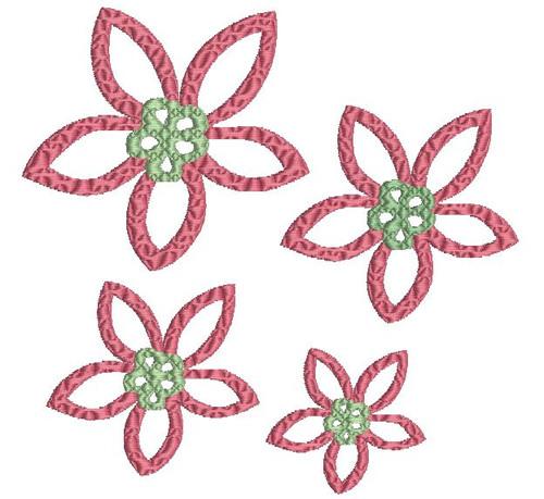 No 33 Retro Flower Machine Embroidery Designs