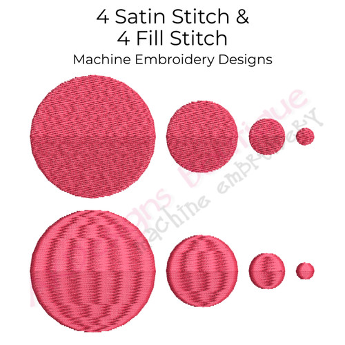 No 41 Individual Dots Machine Embroidery Designs