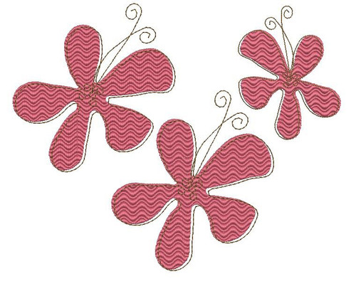 No 43 Whimsical Flower Machine Embroidery Designs
