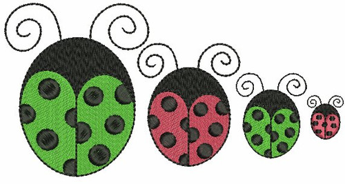All 4 Ladybugs included in the set