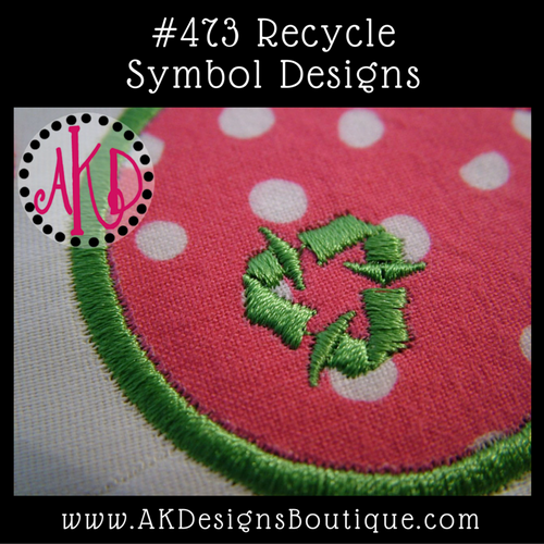 No 473 Recycle Symbol Embroidery Designs