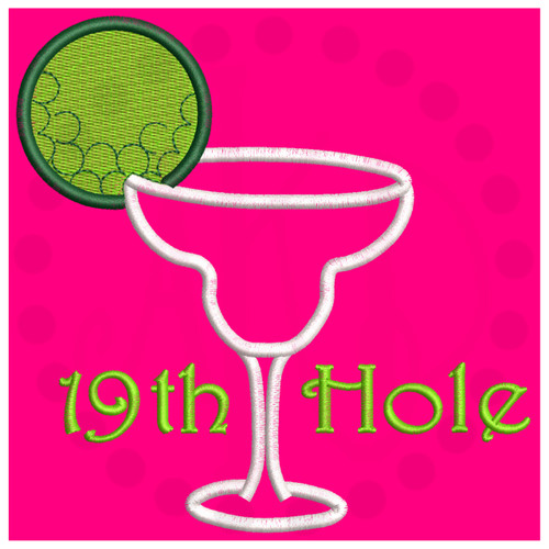 No 477 Golf Margarita Machine Embroidery Designs