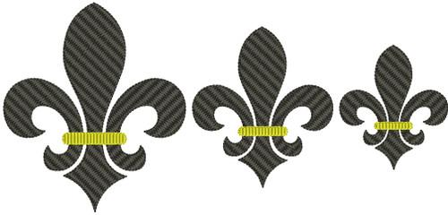 No 481 Fleur de Lis Machine Embroidery Designs