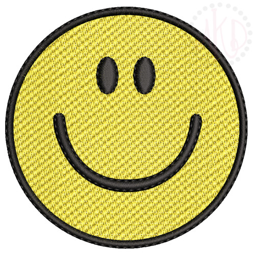 No 491 Smiley Face Machine Embroidery Designs