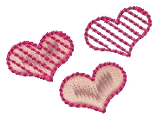 No 494 Teeny Hearts Embroidery Designs