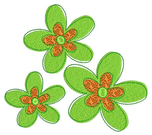 No 50 Retro Flower Machine Embroidery Designs