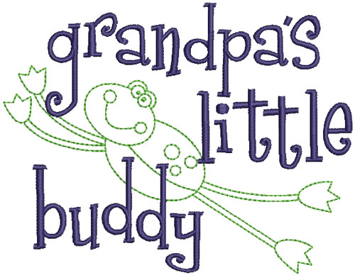 No 500 Grandpas Little Buddy Machine Embroidery Designs
