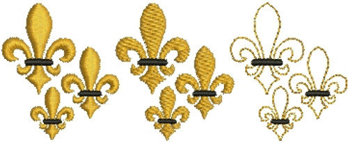 No 580 Teeny Fleur de Lis Machine Embroidery Designs