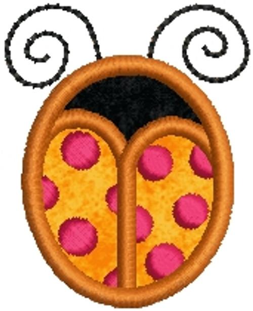 No 827 Applique Ladybug Machine Embroidery Designs
