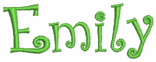 No 147 CurlyQue Font Machine Embroidery Designs 1 inch high