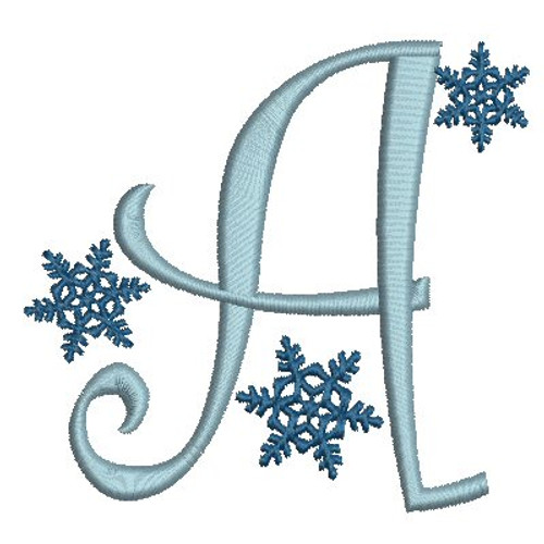 No 19 Snowflake Font Machine Embroidery Designs 3.5 inch high