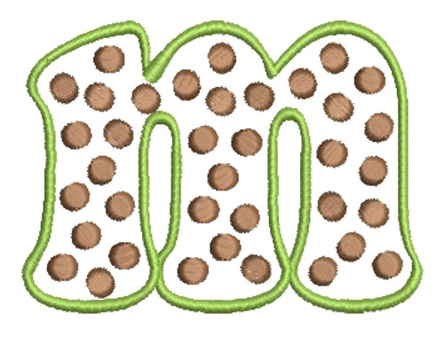 No 332 POLKA DOT Font Lowercase ONLY Embroidery Designs 3.5 inch high