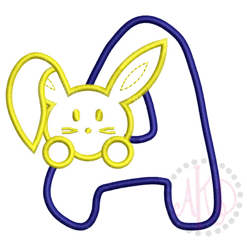 No 36 Bunny Bunnies Font Machine Embroidery Designs 4 inch high