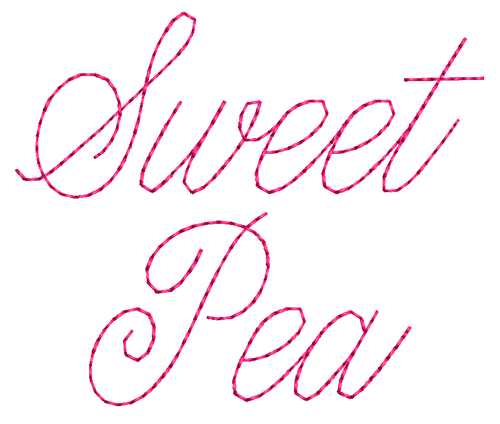 No 371 Super Skinny Font Machine Embroidery Designs 1 inch high