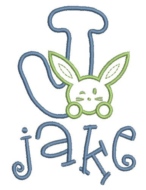 No 46 Bunny or Bunnies Font Machine Embroidery Designs 3 inch high