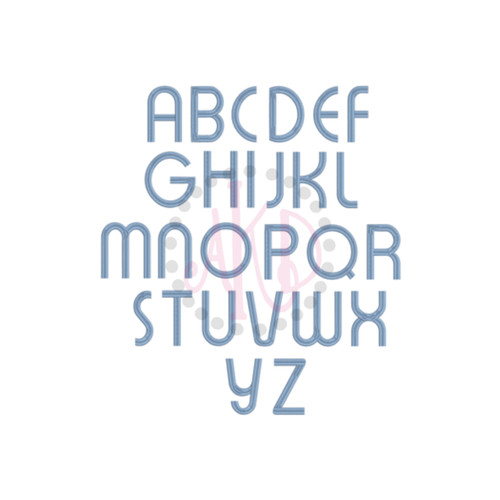 No 86 Retro Boy Font Machine Embroidery Designs 4 inch high