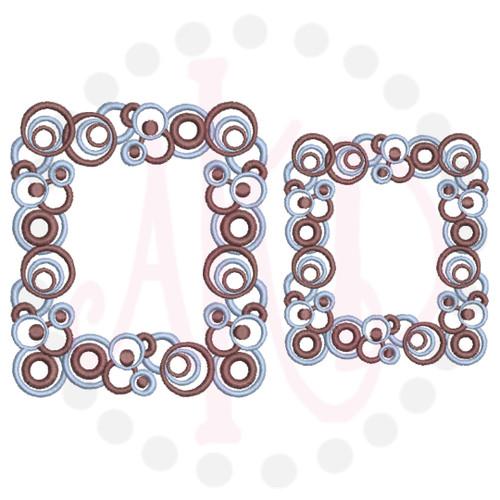 No 14 Circles Border Machine Embroidery Designs