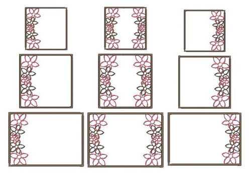 No 23 Flower Font Frames Machine Embroidery Designs