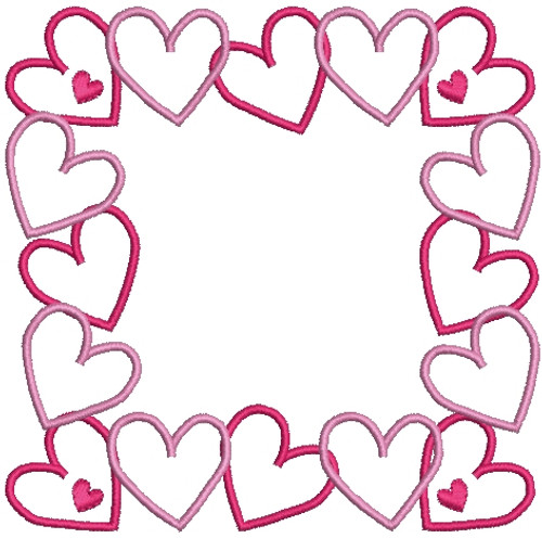 No 251 Heart Font Frames Machine Embroidery Designs