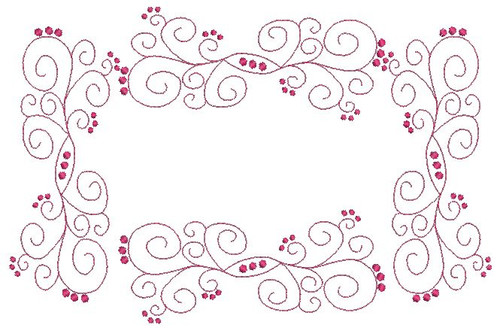 No 27 Fancy Swirl Frame Machine Embroidery Designs
