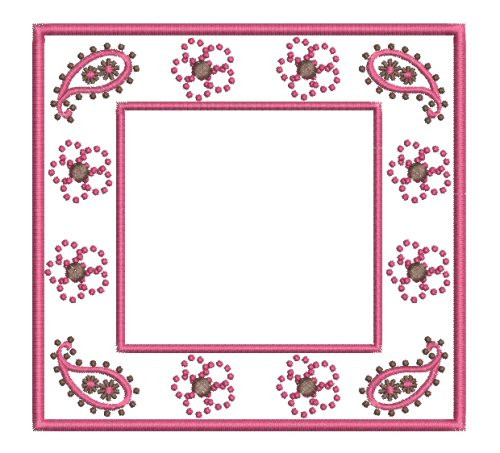 No 8 Paisley and Flower Font Frame Machine Embroidery Designs