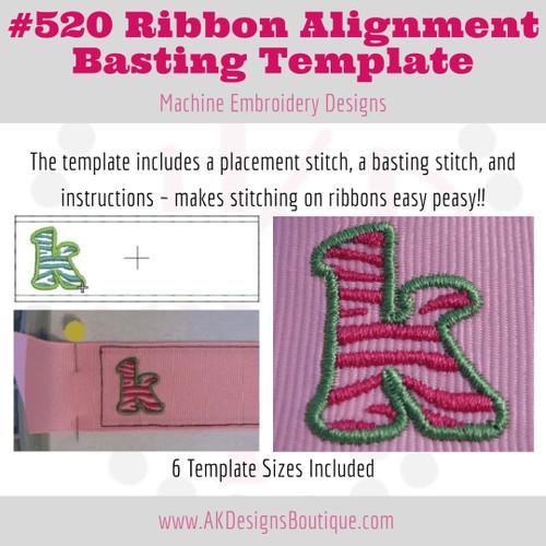 No 520 Ribbon Alignment Basting Template Embroidery Designs