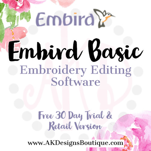 Basic Embird Embroidery Editing Software Program