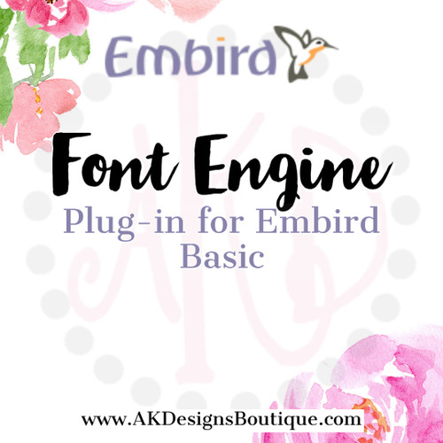 Font Engine - Plug-in for Embird Basic