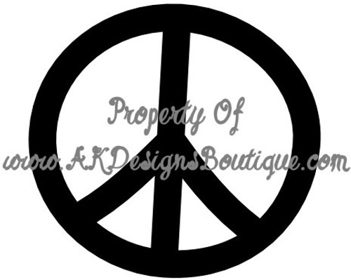 No V100 Peace Sign - Ready to Cut Artwork for Vinyl Cutter