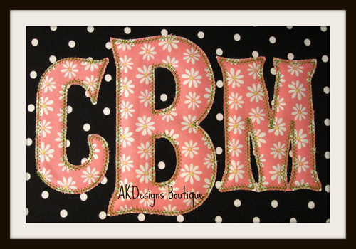 All embroidery fonts monograms perfect for towels blankets