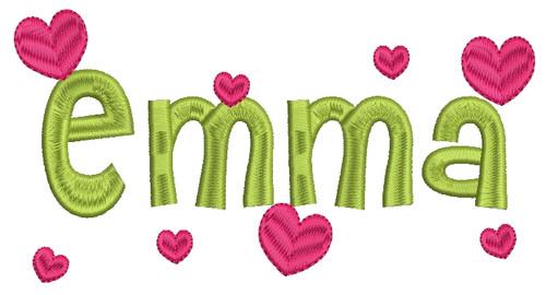 No 369 Viola Heart Font Machine Embroidery Designs 2 inch high